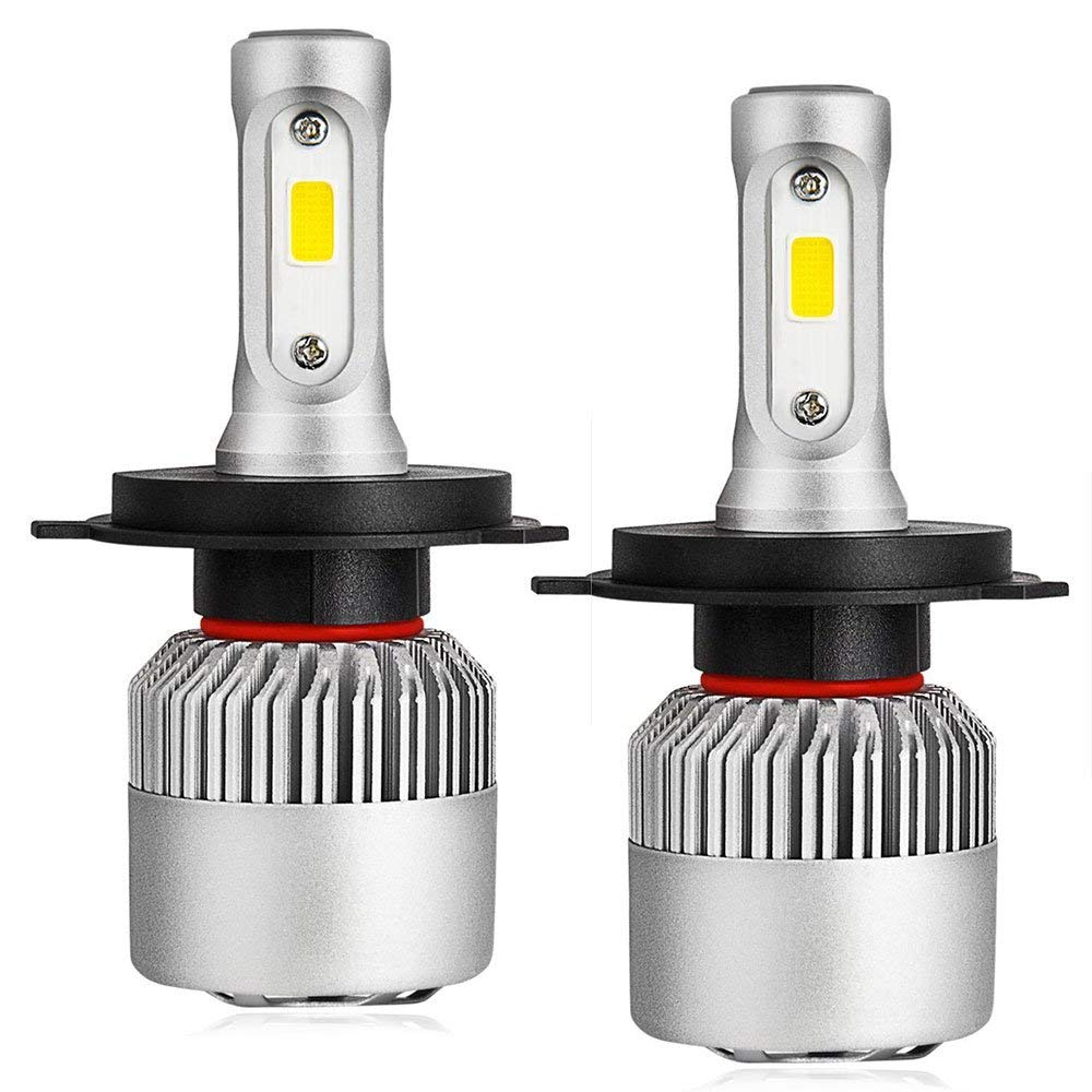 EEEKit H4 LED Headlight Bulbs H4, 2-pack Industries High and Low Beam LED Bulbs LED Headlight Kits, 150W 6000K Cool White