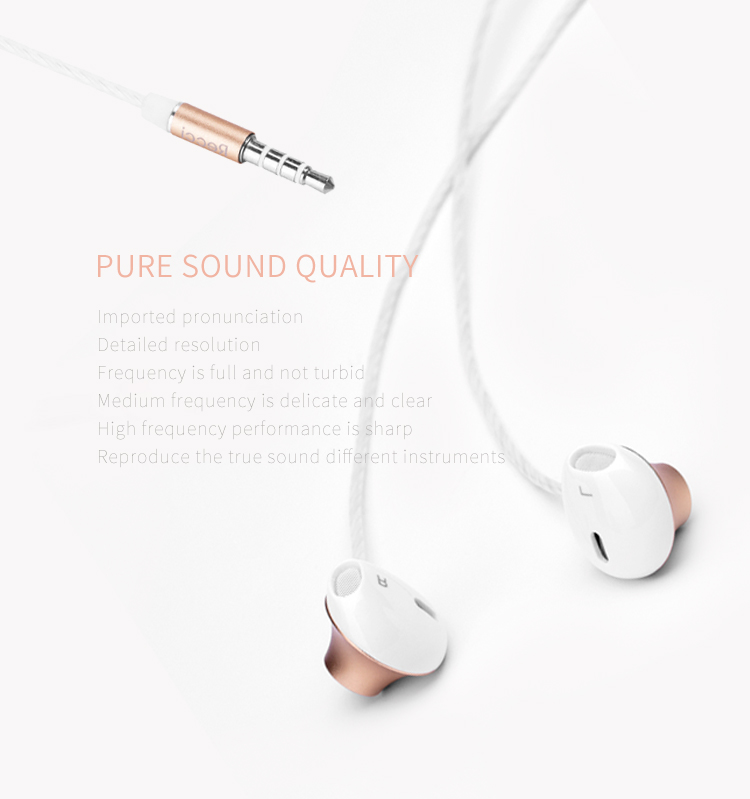Recci  ErgoFit In-Ear Earbuds Headphones REW-E01 with Microphone and Call Controller