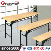 furniture wood top steel frame restaurant table
