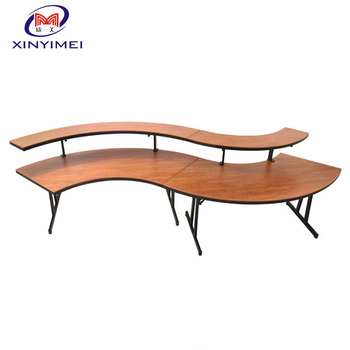Good Quality Round Hotel Folding Buffet Table XYM T01