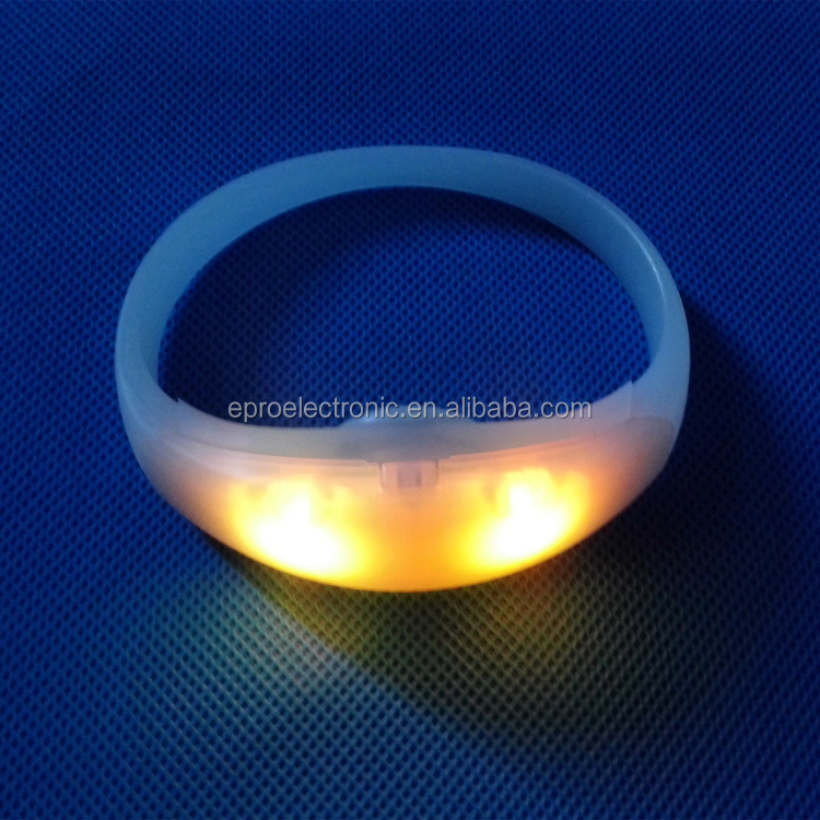 High quality Factory Price Concert Live RFID Remote Controlled LED Flashing Bracelet