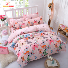 Cheap 100% Cotton Modern Printed Bed Room Furniture Bedroom Set