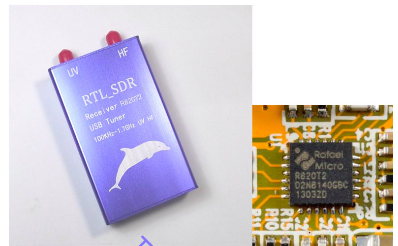 100KHz-1 7GHz Full Band Software Radio RTL-SDR Receiver RTL2832U+R820T2  Aeronautical Band TV Receivers