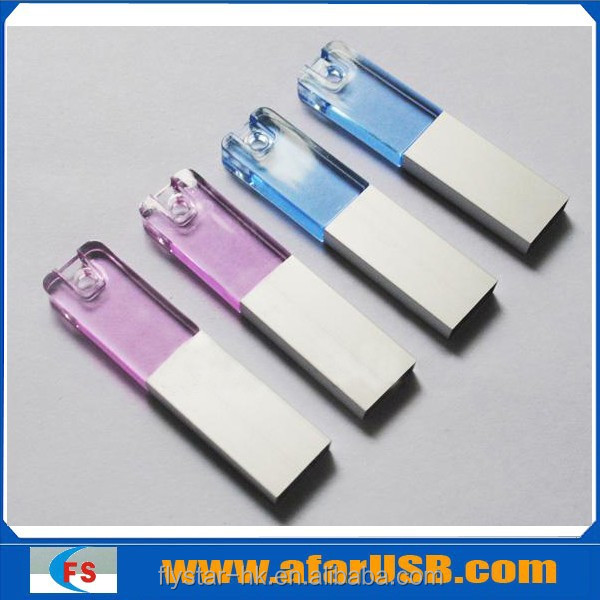 Crystal USB flash drive with 3D laser engraving logo inside the crystal usb flash memory