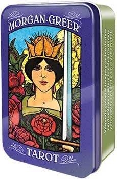 Novelty Toys Tarot Cards Magic Morgan Greer 78 Card Deck in Collectable Tin Saturated Colors