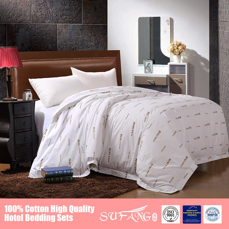 Symbol Customized 5 Star Hotel Bed Linens Pima Cotton Bed Sheet Set For  Hotels