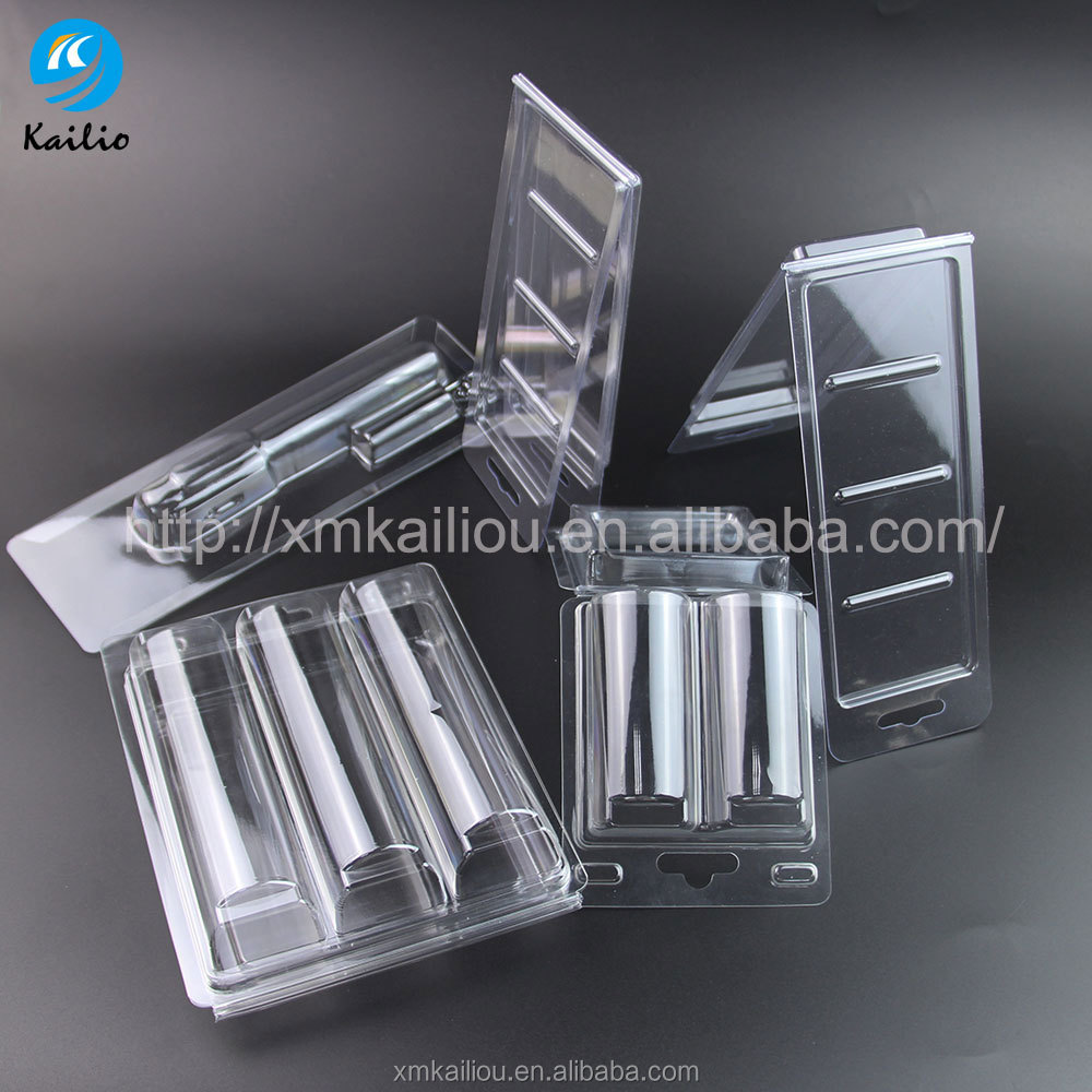 Blister packaging clamshell vegetable fruit PVC pet dividers compartment plastic tray