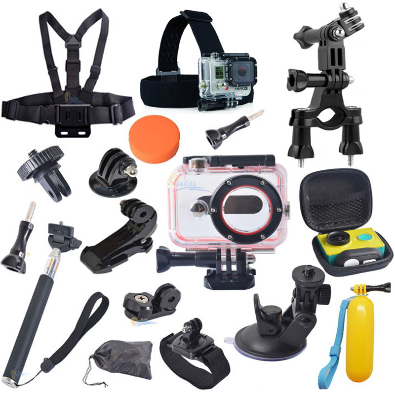 For Xiaomi Yi Accessories Monopod Tripod Adapter+Camera Waterproof Case+Bike