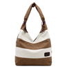Free Shipping High Qulaity Fashion Women Stripe Messenger Bag Brown Tote America Popular Clear Shoulder Casual Canvas Handbag