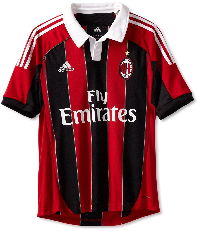 a7d607e84ca Get Quotations · AC Milan Soccer Home Jersey