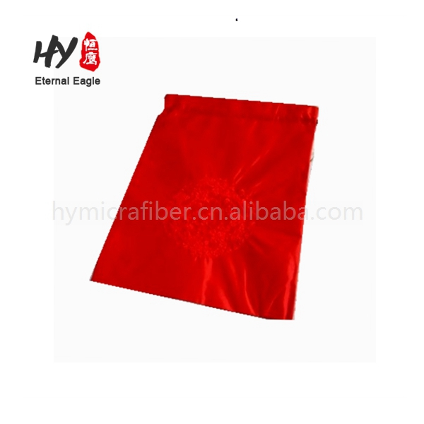 Wholesale custom gold drawstring silk satin dust bags