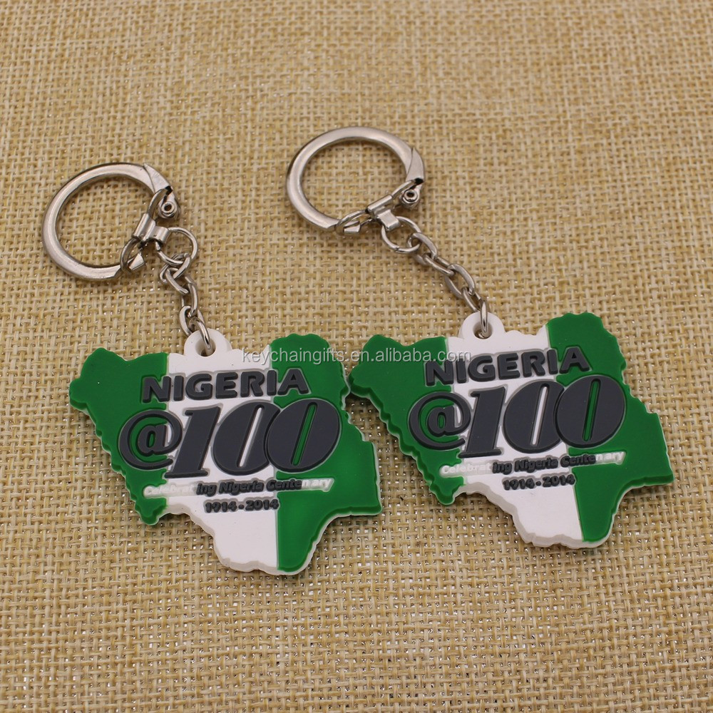 Promotion soft rubber custom pvc keychain for gifts