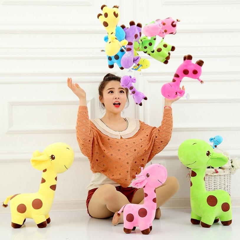 Stuffed wholesale plush giraffe baby toys