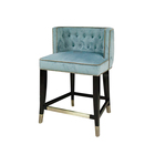 Chinese wholesale companies New Trend Furniture restaurant vintage high blue bar chair