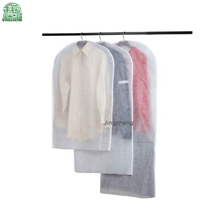 Cheap custom fabric white non - woven wedding garment suit bag clothe bags clear coat cover