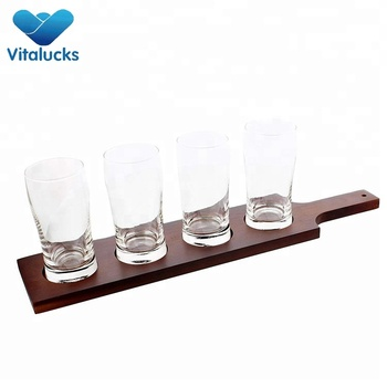 Hot sales wooden wine drink glass holder tray