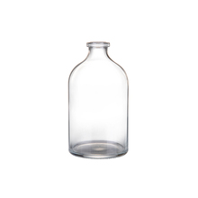 Clear rubber stopper 100ml pharmaceutical bottles glass vial
