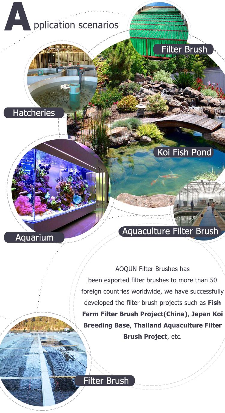 Filtro Spazzole Giardino Koi Stagno di Pesce Filtro Media Pennello