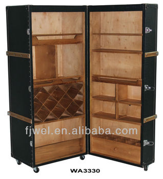 bar trunk furniture. stateroom wheeled steamer trunk bar furniture