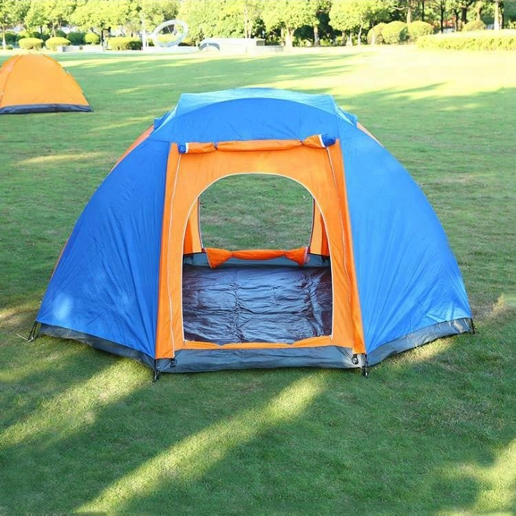 Super large rain-proof luxury double door tent camping family for sale