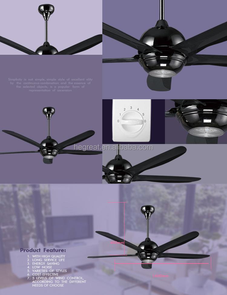 China Supplier Big Size Black Colourful Ecm Decorative Ceiling Fan ...