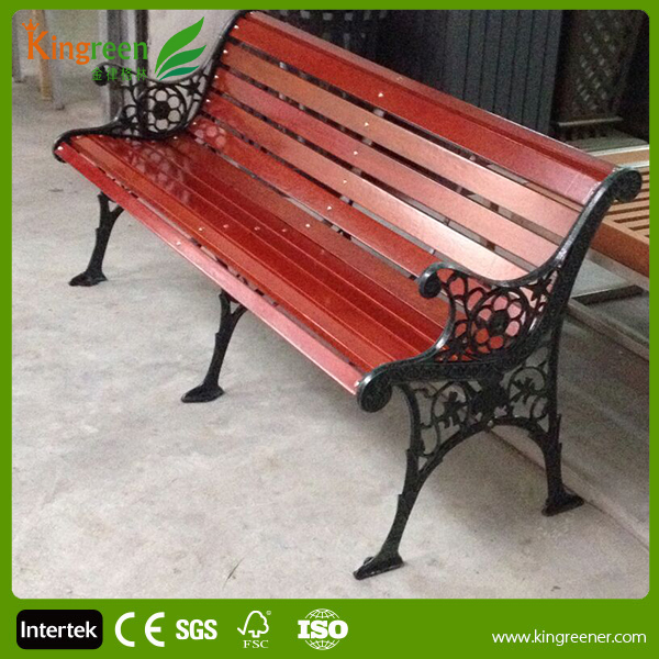 Hot Sell Wood Slats For Cast Iron Bench Outdoor Furniture