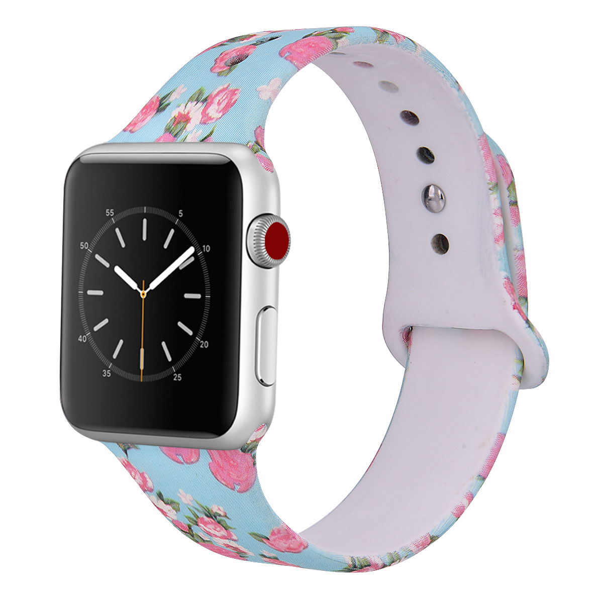 Bayanlar moda Bling dekoratif silikon saat kordonları 38/42 Apple için İzle serisi 1/2/3/4 /5