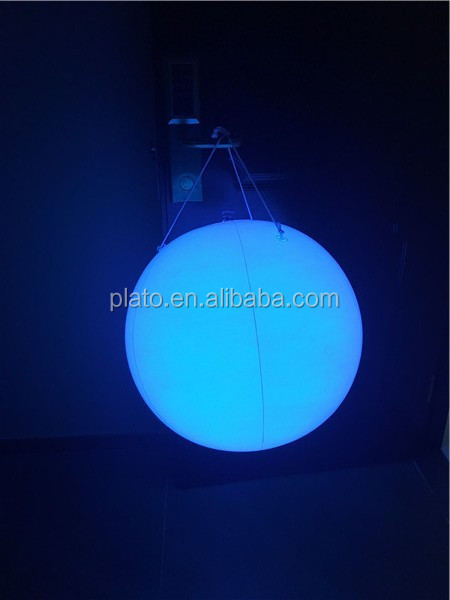 Wedding stage decoration balloon /Dia 1m inflatable ceiling lighting balloon for event display