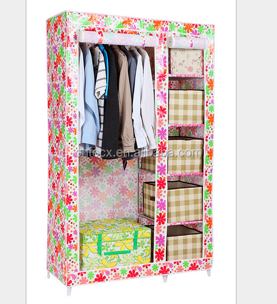 High quality home storage folding wardrobe/Non-woven fabric wardrobe/cabinet/closet/cloth wardrobe