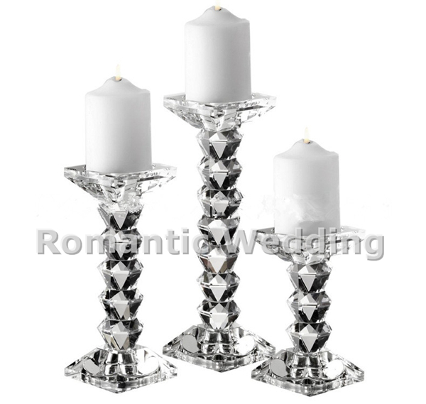 beaded simple modern crystal candlestick for Wedding decorations event products party decorations