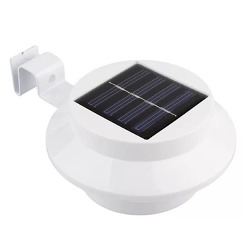Solar Powered 3 LEDs Garden Outdoor Light LED Fence Roof Pathway Lamp Smart Gutter Wall Hanging Yard Lawn Lighting