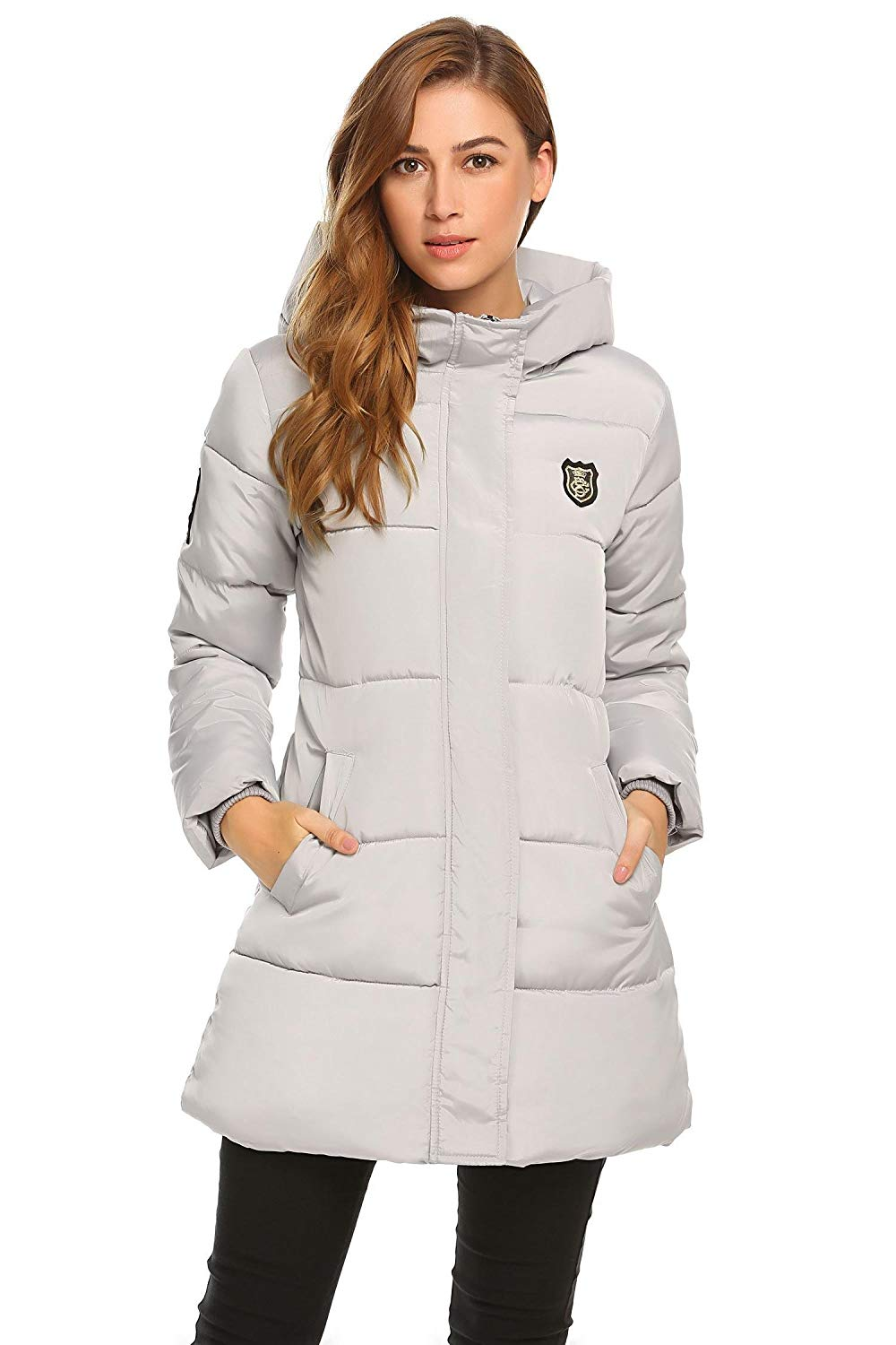 8a91cd3e8d0 Get Quotations · Etuoji Women Hooded Long Sleeve Solid Zip-up Quilted  Cotton Padded Jacket