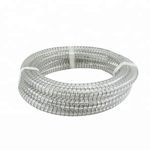 flexible medical reinforced pipes transparent pvc steel wire hose
