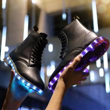 Colorful bright lights led shoes men and women,girls shoes waterproof led shoes men and women