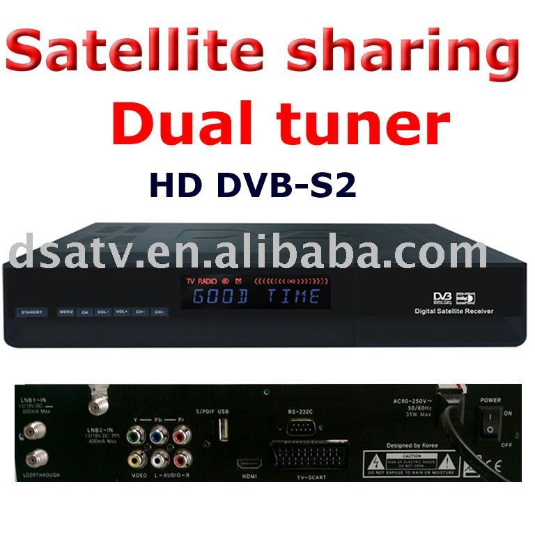 twin Dual tuner receiver dvb s2 mpeg4 hd receiver cccam rceeiver dvb s dongle sharing hd satellite receiver