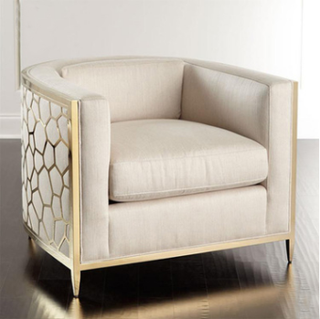 Luxury Stainless Steel Single Sofa Chair