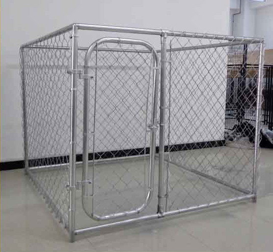 Outside dog kennels large outdoor indoor cage 10x10x6 pets for Dog run cage enclosure