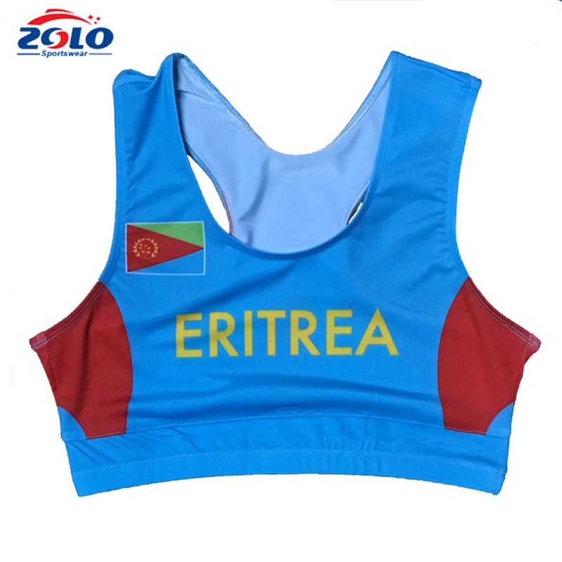 Sublimated customized ladies racer back netball dress