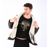 Latest Design OEM Fashion Winter Cheap Men's Shearling Coats UK