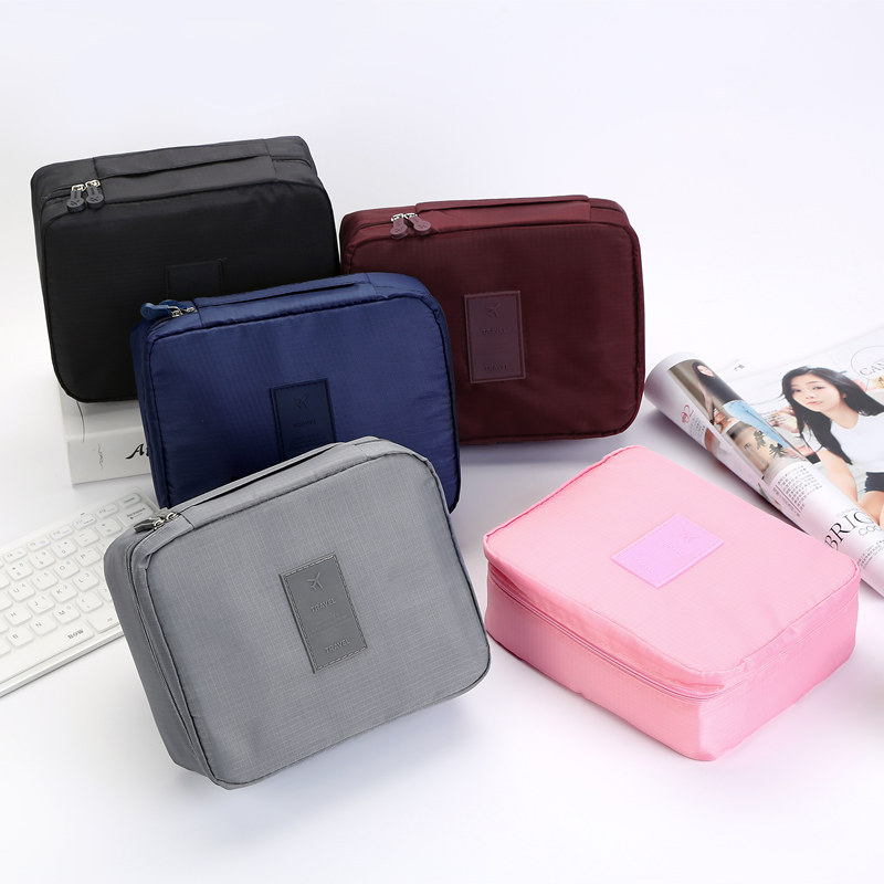 Wholesale lady makeup bag soft waterproof ripstop airline toiletry bag