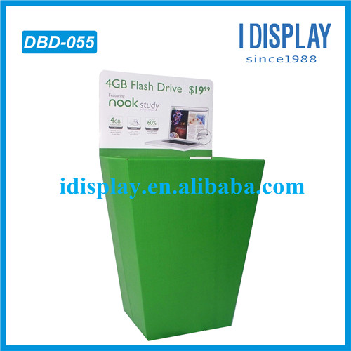 promotion 4GB USB flash drive dump bins for supermarket