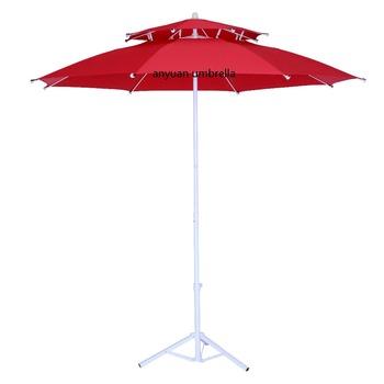 Double Roof Fiberglass Polyester Fabric Anti Uv Classic Design Mini Patio  Umbrella Outdoor Manufacturer