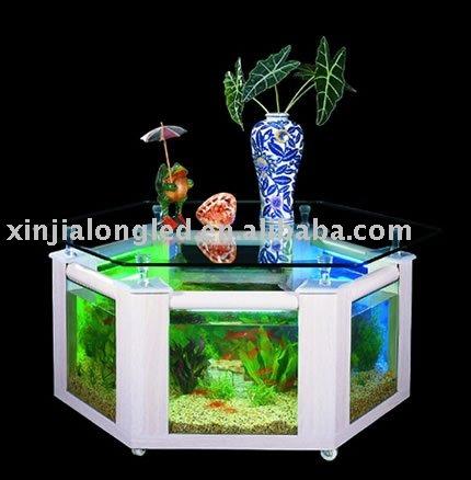 grand acrylique table basse aquarium table manger id de. Black Bedroom Furniture Sets. Home Design Ideas