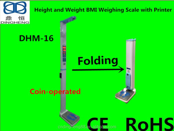 Dhm 16 Coin Operated Ultrasonic Standing Weighing Scale