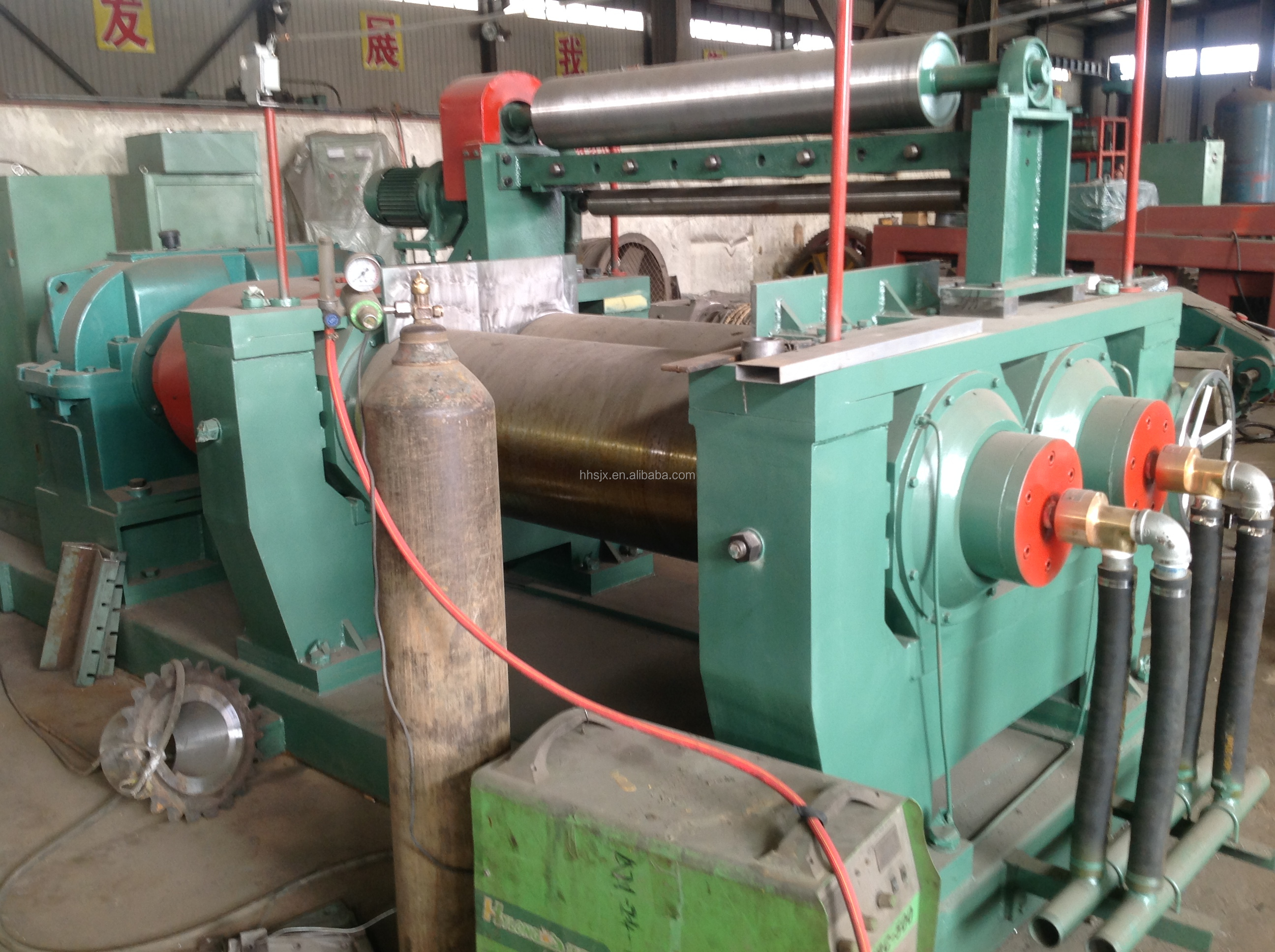 Xk-450 Double Shaft Rubber Two Roll Mixing Mill With