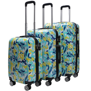 2018 new style 20 24 28 inch ABS PC trolley luggage 4 spinner wheels travel case suitcase set