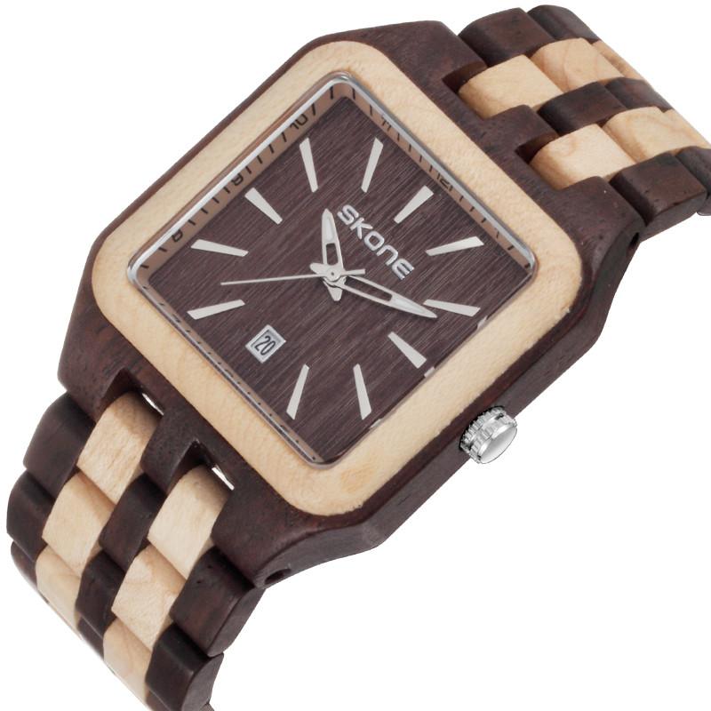 Moisture Resistant Wood : Japan movement water resistant wood wristwatches black