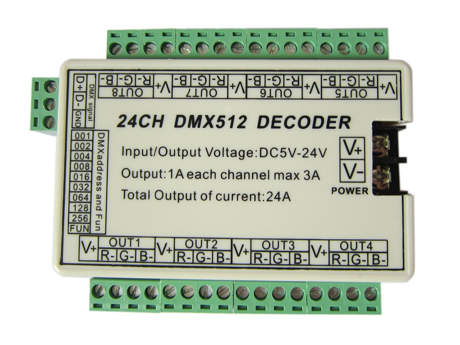 Cheap 6 Channel Dmx Find Deals On Line At Alibabacom Dmxprojectscom Dmx512 Lighting Projects Relay Schematic Get Quotations 24 Decoder Dimmer Controller 8 Group