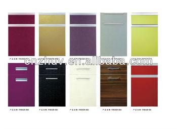 Uv High Gloss Vinyl Wrap Kitchen Cabinet Doors