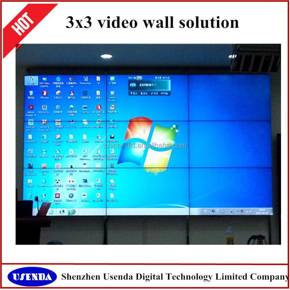 "2016 best selling 2X2 46"" large high quality lcd advertising player movie screens"